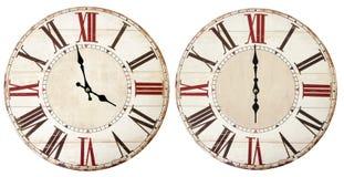 Orologi d'annata su bianco fotografia stock