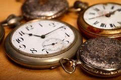 Orologi da tasca del primo piano Fotografia Stock