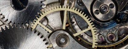 Orologi da tasca meccanici d'annata del movimento a orologeria Fotografie Stock Libere da Diritti