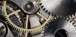 Orologi da tasca meccanici d'annata del movimento a orologeria Fotografia Stock