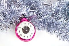 Orologi del giocattolo dell'albero di Natale Immagine Stock