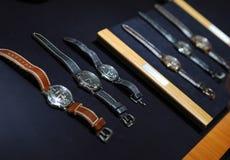 Orologi del lusso e dell'annata Immagini Stock Libere da Diritti