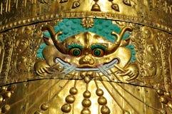 Orologi del tetto su Jokhang Fotografia Stock Libera da Diritti