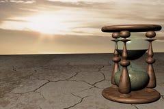 Orologi della sabbia in deserto Fotografia Stock Libera da Diritti