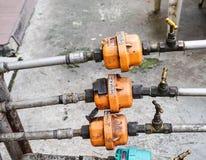 Orologi di acqua a Chinatown in Kuala Lumpur, Malesia immagini stock