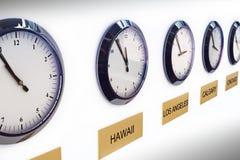 Orologi di fuso orario Immagini Stock Libere da Diritti