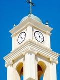 Orologi di Giaffa della chiesa di St Peter 2012 Fotografia Stock