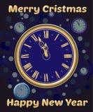 Orologi di Natale Fotografia Stock Libera da Diritti