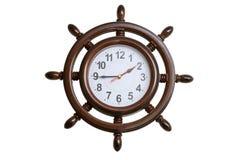 Orologi di parete sotto forma di volante marino fotografie stock libere da diritti