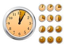 Orologi di vettore Immagine Stock