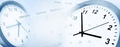 Orologi e calendari immagine stock libera da diritti