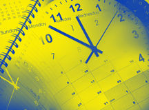 Orologi e calendari fotografia stock