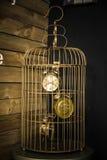Orologi in gabbia per uccelli fotografia stock