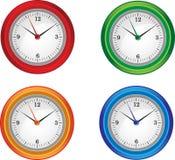 Orologi isolati illustrazione vettoriale