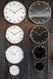 Orologi marcatempi del mondo immagini stock