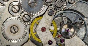 Orologi meccanici d'annata del movimento a orologeria Immagini Stock Libere da Diritti