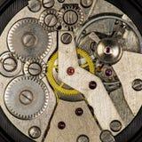 Orologi meccanici d'annata del movimento a orologeria Fotografie Stock