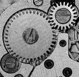 Orologi meccanici d'annata del movimento a orologeria Immagini Stock