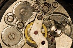 Orologi meccanici d'annata del movimento a orologeria Immagine Stock
