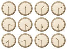 Orologi, mezz'ora illustrazione vettoriale