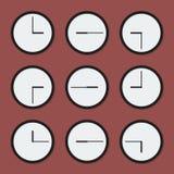 Orologi minimi Fotografia Stock Libera da Diritti