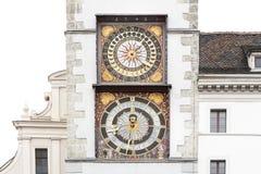 Orologi storici della torre immagine stock
