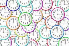 Orologi variopinti Fotografia Stock Libera da Diritti