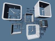 Orologi virtuali Fotografia Stock Libera da Diritti