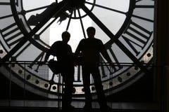 Orologio al museo di Orsay Immagine Stock