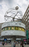 Orologio Alexanderplatz Berlino del mondo Fotografie Stock