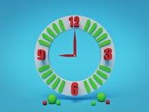 Orologio analogico con le forme geometriche rappresentazione 3d illustrazione di stock