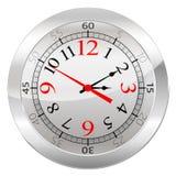 Orologio analogico isolato su un fondo bianco Fotografia Stock