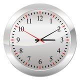 Orologio analogico isolato su un fondo bianco Fotografie Stock Libere da Diritti