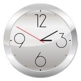 Orologio analogico isolato su un fondo bianco Immagini Stock Libere da Diritti