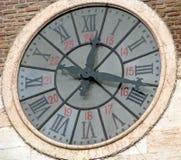 Orologio antico con i numeri romani Fotografia Stock