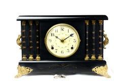 Orologio antico d'annata 2 del manto fotografia stock libera da diritti