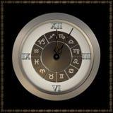 Orologio antiquato con i numeri romani. Fotografie Stock