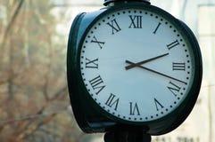 Orologio antiquato della città Fotografia Stock