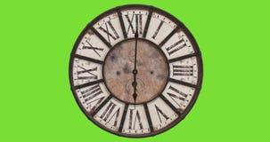 Orologio antiquato, timelapse 12H stock footage