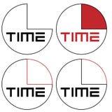Orologio astratto con il logo di minimalismo di tempo di logo Fotografia Stock