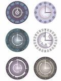Orologio astratto di vettore, progettazione grafica Fotografie Stock Libere da Diritti