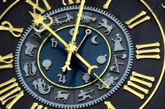 Orologio astrologico Fotografie Stock Libere da Diritti