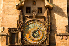 Orologio astronomico antico Fotografie Stock Libere da Diritti
