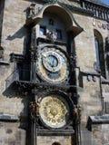 Orologio astronomico di Praga, quadrato di Città Vecchia, Praga Fotografia Stock