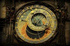 Orologio astronomico di Pragues Immagini Stock Libere da Diritti