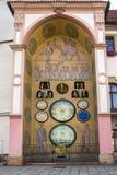Orologio astronomico in Olomouc, repubblica Ceca. fotografia stock libera da diritti
