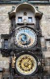 Orologio astronomico - Praga Fotografie Stock Libere da Diritti