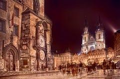 Orologio astronomico a Praga Immagini Stock