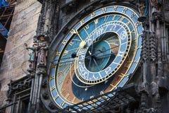 orologio astronomico, Praga, repubblica del controllo immagine stock libera da diritti
