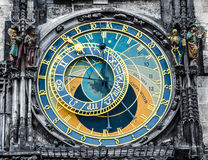 Orologio astronomico - punto di riferimento di Praga Fotografia Stock